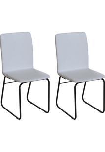 Conjunto Com 2 Cadeiras Hawke Branco E Preto