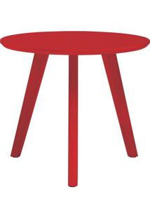 Mesa Lateral Paint Alta Vermelho Acetinado 65 Cm (Alt) - 50947 - Sun House