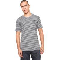 57ca470eec7 Camiseta Nike Sportswear Striped Lbr 2 Cinza