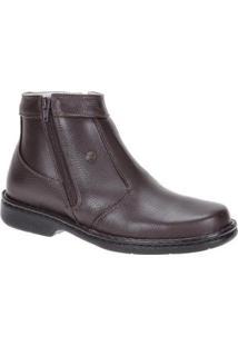 Bota Couro Urbana Boots Masculina - Masculino-Marrom