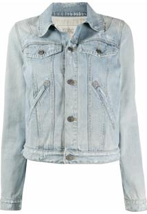 Givenchy Jaqueta Jeans Destroyed - Azul