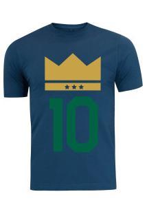 17e3d86453 Camiseta Adams - Masculina - Azul Escuro - Emblema Do Rei Verde - Azul  Escuro