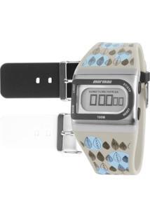 Relógio Mormaii Digital Acquarela Feminino - Feminino-Preto