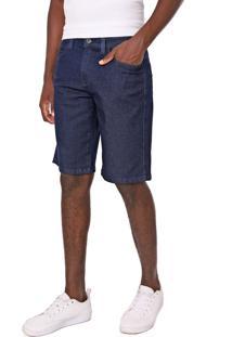 Bermuda Jeans Element Reta Essential Azul