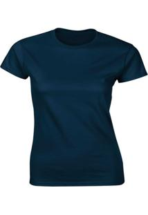 Camiseta Algodão Kronoz Feminina Azul Marinho - Kanui