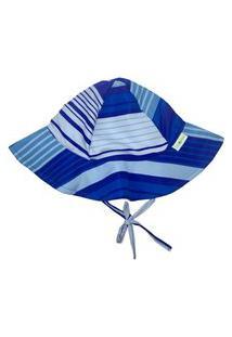 Chapéu Infantil Fpu 50+ Eco&Play Listrado Azul