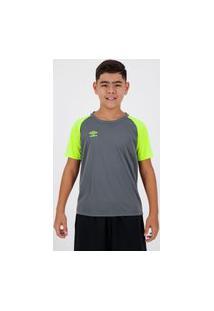 Camisa Umbro Twr Trinity Juvenil Chumbo E Amarela