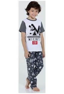Pijama Infantil Manga Curta Estampa Mickey Marisa