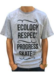 c45cedb9f8f87 Camiseta Pgs Ecology Respect Masculina - Masculino-Cinza