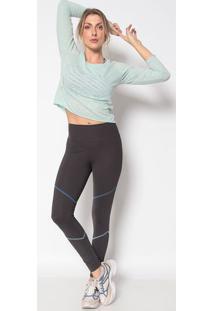 Blusa Em Flam㪠''Beautiful'' - Verde Claro & Douradaphysical Fitness
