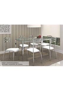 Sala De Jantar Kappesberg Reno 150Cm+6 Cadeiras Croma/Branco