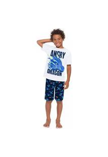 Pijama Infantil Menino Kyly Branco