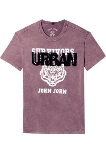 Camiseta John John Urban Tiger Feminina (Vermelho Medio, P)
