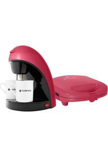 Kit Colors Rosa Doce Cafeteira ESanduicheira 127V -Cadence