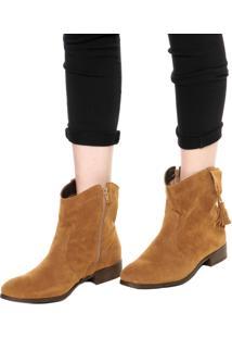 Bota Dafiti Shoes Textura Caramelo