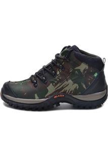 Bota Helazza Boots Adventure Camuflada Verde