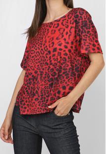 Camiseta Lança Perfume Animal Print Vermelha
