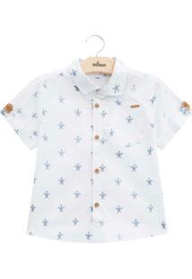 Camisa Infantil Masculina Branco