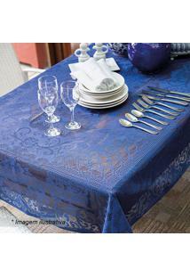 Toalha De Mesa De Renda 8 Lugares Arabescos- Azul Escurolepper