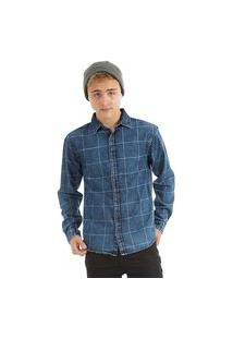 Camisa Jeans Juvenil Rovitex Teen Cinza