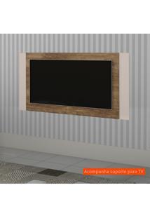 Painel Extensível Para Tv Até 55 Polegadas Duetto Madeira E Off White