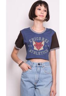 Camiseta Cropped College Fox