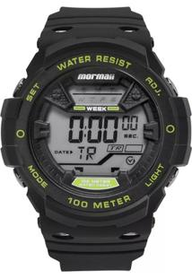 Relógio Mormaii Digital Wave Mo3500A8A Preto Azul - Unissex-Preto+Verde