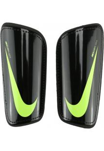 Caneleira De Futebol Nike Hard Shell Slip - Adulto - Preto/Verde Cla
