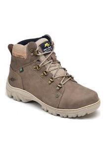 Bota Adventure Bell Boots Couro Macia Conforto Leve Dia A Dia Cinza