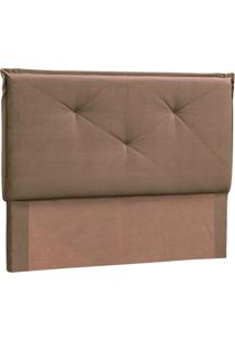 Cabeceira Queen Vic Suede Chocolate
