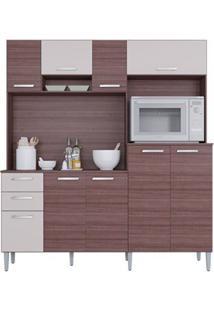 Cozinha Com 9 Portas Gisele Capuccino/Off White - Lc Móveis