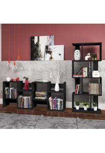 Estante Para Livros Design Esm218 Preto - Móvel Bento