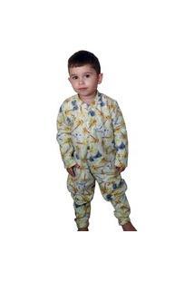 Pijama Macacão Infantil Soft Dino Tamanho 10,12,14,16