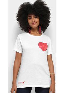 Camiseta Cantão Local Crayola Feminina - Feminino-Off White