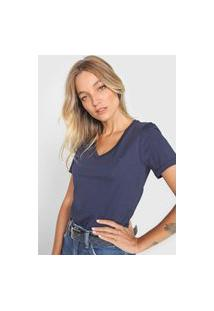 Camiseta Calvin Klein Logo Azul-Marinho