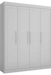 Guarda Roupa Infantil 2669 4 Portas E 3 Gavetas Linha Mandolate Plus Multimoveis Branco Premium