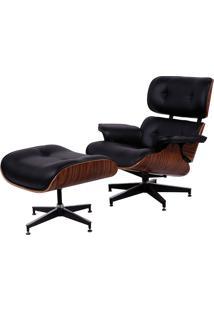 Poltrona Charles Eames Com Puff Or-1208 – Or Design - Preto