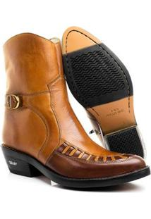 Bota Texana Hb Agabe Boots India Havana Masculina - Masculino-Café