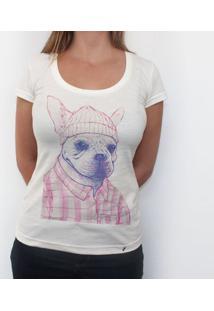 Magenta Dog - Camiseta Clássica Feminina