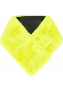Apparis Cachecol Luna Com Pelos - Amarelo