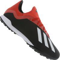 6030e66a36 Centauro. Chuteira Society Adidas X 18.3 Tf - Adulto - Preto Vermelho