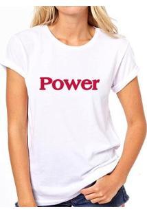 Camiseta Coolest Power Feminina - Feminino-Branco