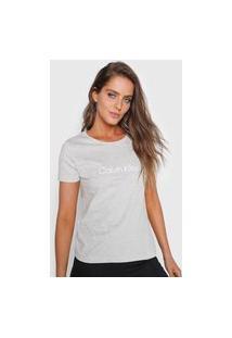 Camiseta Calvin Klein Logo Cinza