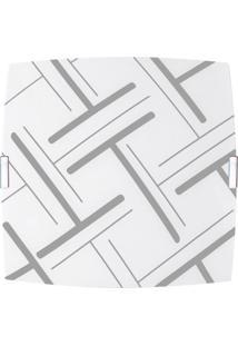 Plafon Quadrado Pequeno Traços Cinza
