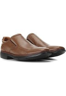Sapato Conforto Anatomic Gel Ultra Leve Masculino - Masculino-Marrom