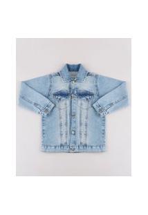 Jaqueta Jeans Infantil Azul Médio