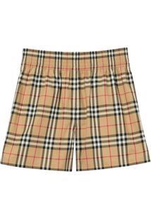 Burberry Vintage Check Shorts - Neutro