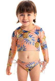 Blusa Arpoador Infantil Cropped