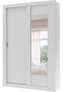 Guarda-Roupa Solteiro Elus Flex Color Com Espelho 2 Pt 2 Gv Branco E Native