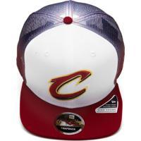 16f0555da0cb7 Boné New Era Cleveland Cavaliers Branco Vermelho